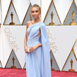 Giuliana Rancic in a Periwinkle Single-Shoulder Cape