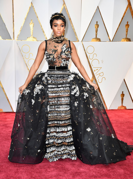 Janelle Monae in Elie Saab at the Oscars