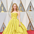 Leslie Mann in a Chartreuse Ball Gown