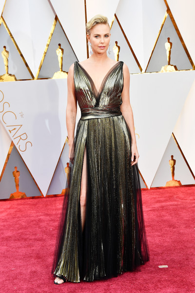 Charlize Theron in a Dramatic Dior Gown