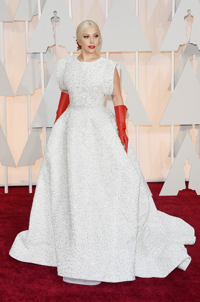 Lady Gaga at the 2015 Oscars