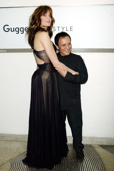 Stephanie Seymour and Azzedine Alaia
