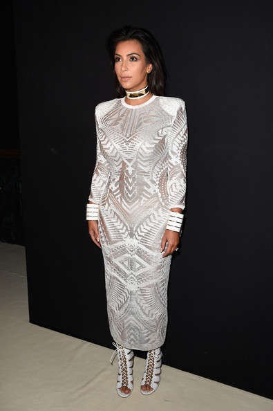 In Broad-Shouldered Balmain At The Label's Spring 2015 Show