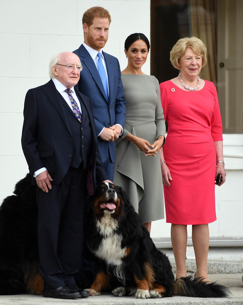 Meghan And Harry Meet President Michael Higgins And His Wife Sabina Coyne