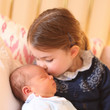 Princess Charlotte Kissing Prince Louis, 2018