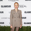 Adwoa Aboah in a Plaid Pantsuit