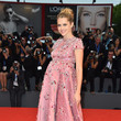Teresa Palmer in a Beaded Pink Ball Gown