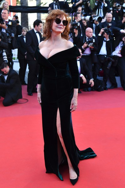 Susan Sarandon in Alberta Ferretti at the Cannes Film Festival