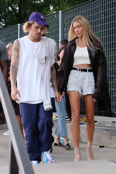 With Beau Justin Bieber At NYFW