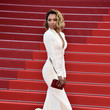 Kat Graham's Structured White Mermaid Gown
