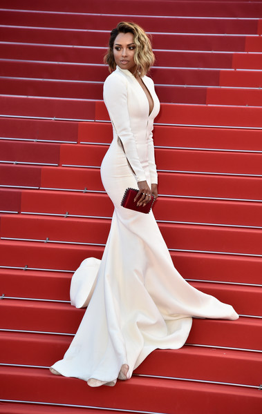28933ec2a10f Kat Graham's Structured White Mermaid Gown - Wedding Dress ...