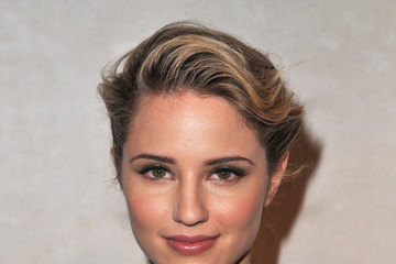 Dianna Agron Sweeps on Shimmering Eyeshadow