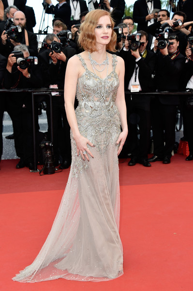 Jessica Chastain in Mermaid Silver