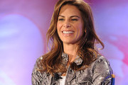 Executive producer and star Jillian Michaels talks with reporters at the NBC Universal Summer Press Day on April 26, 2010 in Pasadena, California.