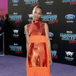 Zoe Saldana in Emilio Pucci at a Hollywood Premiere