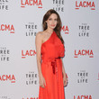 In Vibrant Red Jeffrey Packham At The 'Tree Of Life' Premiere