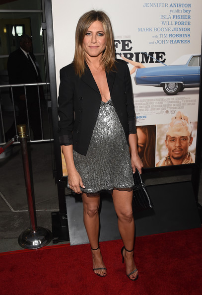 In A Sequin Saint Laurent Mini At The 'Life Of Crime' Hollywood Premiere