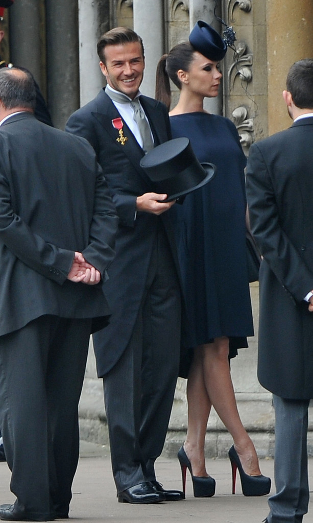 Victoria Beckham Attends Royal Wedding In Dress And Philip Treacy Hat Livingly