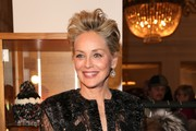Sharon Stone during the charity gala benefiting 'Planet Hope' foundation at Kempinski Grand Hotel des Bains on December 28, 2017 in St. Moritz, Switzerland..