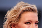 Cate Blanchett walks the red carpet ahead of the 'A Star Is Born' screening during the 75th Venice Film Festival at Sala Grande on August 31, 2018 in Venice, Italy.