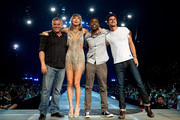 (L-R) Actor Matt Leblanc, singer-songwriter Taylor Swift, comedian Chris Rock and actor Sean O'Pry perform onstage during Taylor Swift The 1989 World Tour Live In Los Angeles at Staples Center on August 22, 2015 in Los Angeles, California.