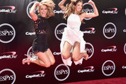 Author Denise Austin and Katie Austin attend the 2016 ESPYS at Microsoft Theater on July 13, 2016 in Los Angeles, California.
