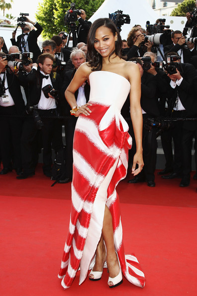Zoe Saldana in Armani Prive at the 2011 Cannes Film Festival