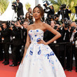 Jourdan Dunn in an Appliqued Ball Gown