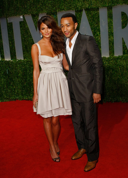 Then: Chrissy Teigen and John Legend