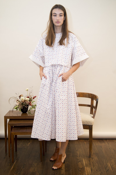 Adam Lippes at New York Spring 2018 [clothing,white,dress,fashion,shoulder,sleeve,gown,formal wear,neck,pattern,gown,dress,dress,adam lippes,clothing,sleeve,fashion,pattern,shoulder,new york fashion week,dress,sari,clothing,fashion,the dress,blouse,pattern,sleeve,gown]