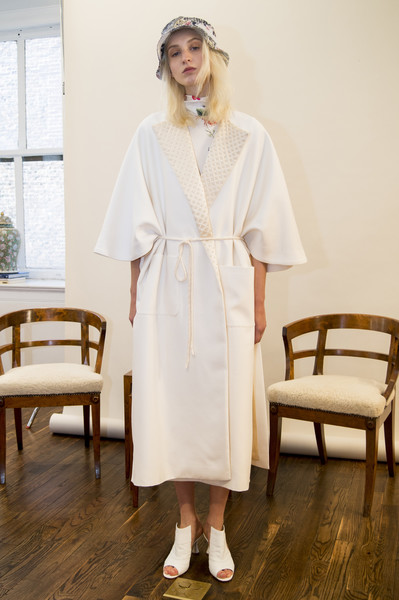 Adam Lippes at New York Spring 2018 [clothing,white,robe,dress,nightwear,gown,outerwear,sleeve,uniform,neck,gown,dress,adam lippes,fashion,fashion week,runway,costume,robe,new york fashion week,fashion show,robe,new york fashion week,fashion,fashion week,fashion show,runway,costume,gown,model,spring]