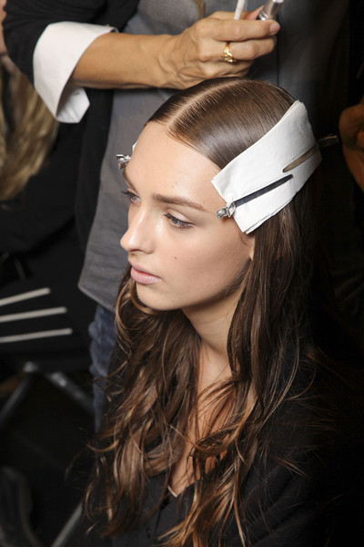 Alberta Ferretti at Milan Spring 2012 (Backstage)