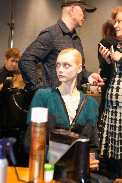 Angelo Marani at Milan Fall 2013 (Backstage)