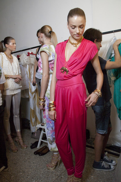 Angelo Marani at Milan Spring 2010 (Backstage)