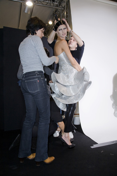 Armani Privé at Couture Spring 2009 (Backstage)