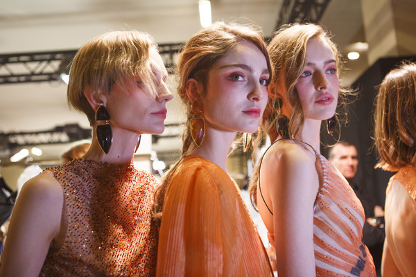 Backstage at Armani Prive Couture Spring 2017