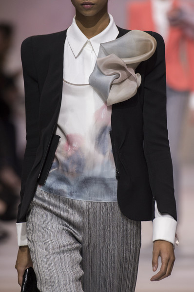 Armani Privé at Couture Spring 2018 (Details) [fashion photography,clothing,suit,fashion,formal wear,hat,outerwear,blazer,fedora,fashion model,neck,supermodel,fashion,runway,haute couture,model,wear,armani prive,couture spring 2018,fashion show,fashion,runway,armani,the business of fashion ltd.,haute couture,fashion show,fashion photography,model,supermodel]