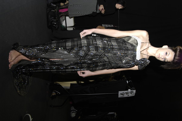 Ashley Isham at London Fall 2007 (Backstage)
