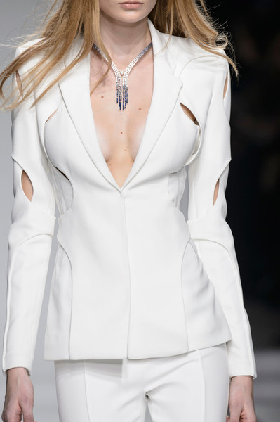 Atelier Versace at Couture Spring 2016 (Details) [white,clothing,fashion,fashion model,suit,blazer,outerwear,formal wear,hairstyle,haute couture,haute couture,clothing,fashion,runway,model,atelier versace,fashion design,fashion week,couture spring 2016,fashion show,haute couture,runway,fashion,fashion show,clothing,versace,model,fashion design,fashion week]