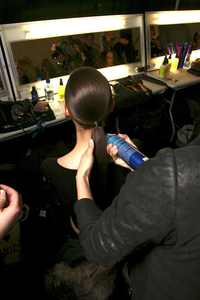 BCBG Max Azria at New York Fall 2011 (Backstage)