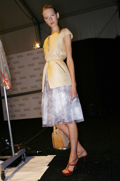 Badgley Mischka at New York Spring 2009 (Backstage)