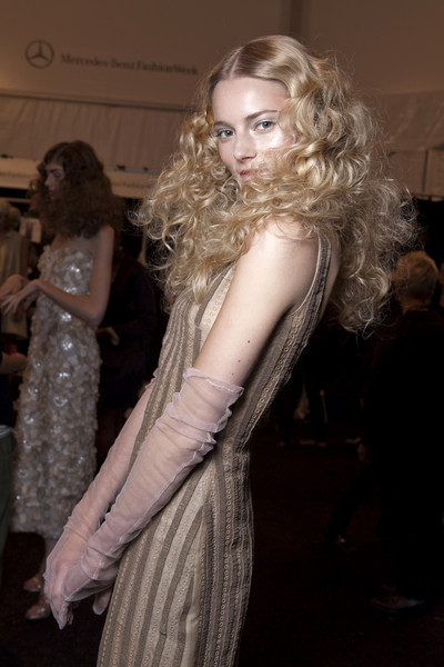 Badgley Mischka at New York Spring 2011 (Backstage)