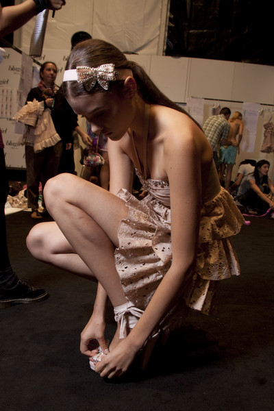Blugirl at Milan Spring 2011 (Backstage)
