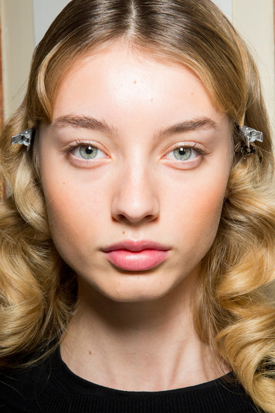 Blumarine at Milan Fall 2017 (Backstage) [hair,face,eyebrow,lip,hairstyle,blond,cheek,chin,forehead,beauty,lipstick,beauty,fashion,eye liner,makeup,eye shadow,hairstyle,lip,blumarine,milan fashion week,fashion,beauty,facial makeup,eye shadow,eye liner,lipstick,sephora,marie claire,fashion designer]