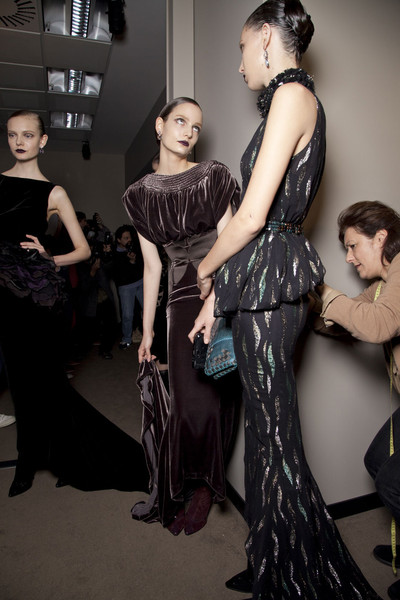 Bottega Veneta at Milan Fall 2012 (Backstage)