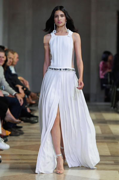 Carolina Herrera at New York Spring 2016 [fashion model,fashion,fashion show,runway,clothing,dress,shoulder,haute couture,gown,event,dress,party dress,carolina herrera,fashion,runway,wedding dress,spring,clothing,new york fashion week,fashion show,carolina herrera,fashion,ready-to-wear,dress,spring,fashion show,party dress,wedding dress,runway,evening gown]