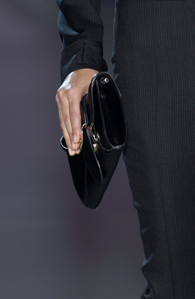 Cerruti at Milan Spring 2004 (Details) [black,footwear,hand,fashion accessory,outerwear,leather,shoe,eyewear,street fashion,jewellery,footwear,fashion accessory,handbag,jewellery,hand,black,eyewear,street fashion,cerruti,milan fashion week,handbag]