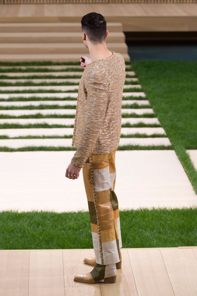 Chanel at Couture Spring 2016 [clothing,footwear,fashion,standing,grass,beige,brown,snapshot,leg,street fashion,jeans,fashion,haute couture,runway,clothing,beige,snapshot,chanel,couture spring 2016,fashion show,chanel,fashion show,haute couture,fashion,grand palais,runway,jeans,madame figaro]