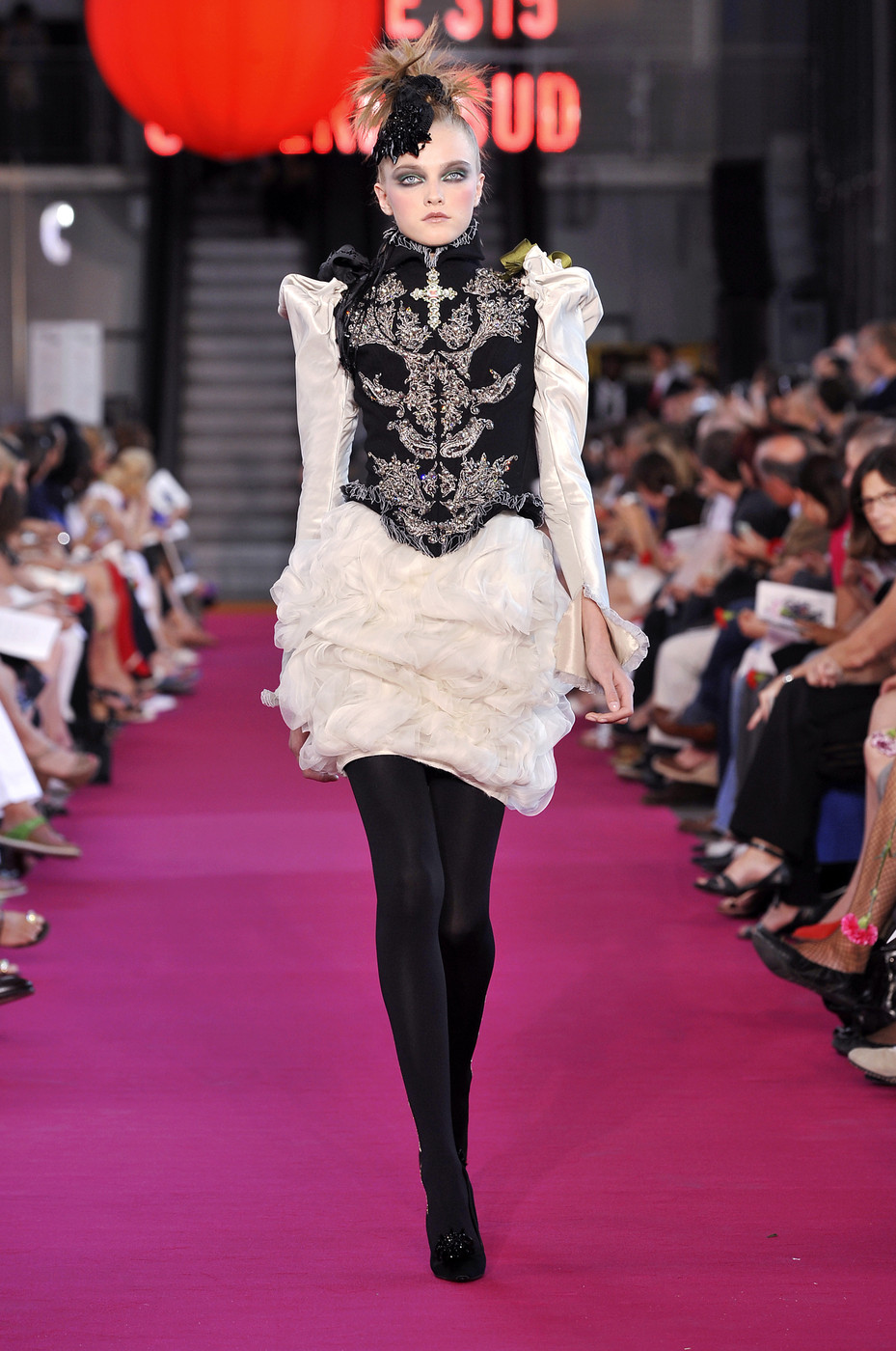 christian lacroix at couture fall 2008 livingly. Black Bedroom Furniture Sets. Home Design Ideas