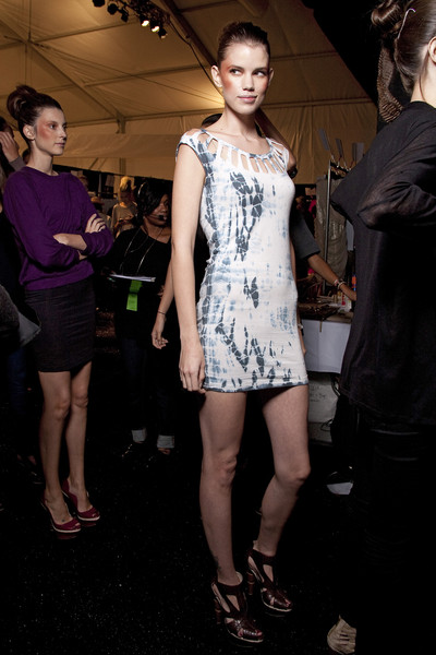Christian Siriano at New York Spring 2011 (Backstage)